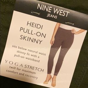 Pull on legging green jeans
